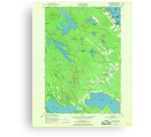 Maine USGS Historical Map Red Beach 807094 1949 24000 Canvas Print