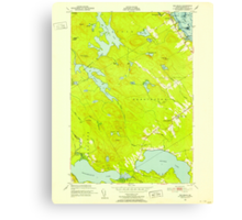 Maine USGS Historical Map Red Beach 807095 1949 24000 Canvas Print