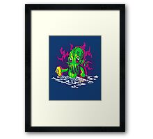 Little Cthulhu Framed Print
