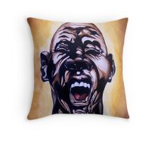 the face of frustration Throw Pillow