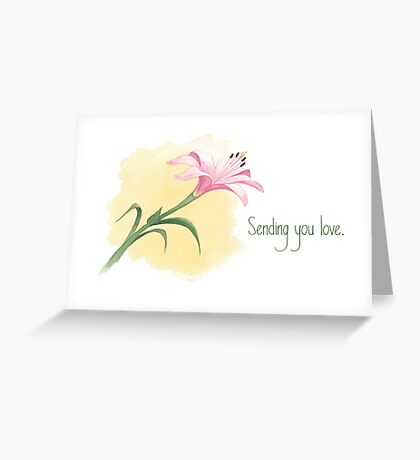 The Last Lily to Bloom (with text) Greeting Card