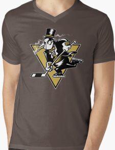 Go Penguin GO! Mens V-Neck T-Shirt