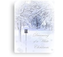 Dreaming of a White Christmas Canvas Print