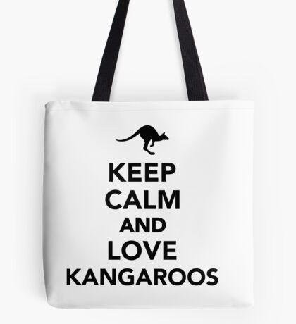Keep calm and love Kangaroos Tote Bag