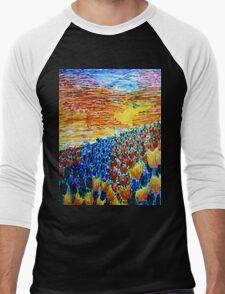 Tulip Sunset Men's Baseball ¾ T-Shirt
