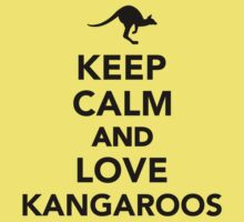 Keep calm and love Kangaroos Kids Tee