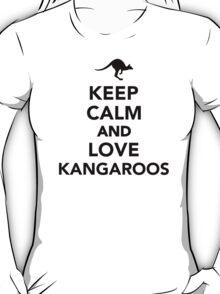 Keep calm and love Kangaroos T-Shirt