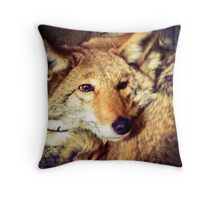 Denning Coyote Throw Pillow