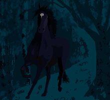 Wild night horse  by Karen Harding