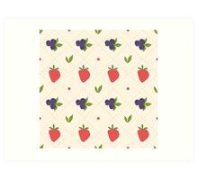 berry pattern Art Print