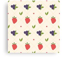berry pattern Canvas Print