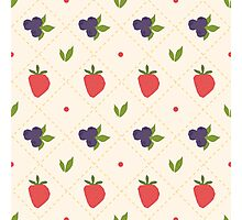 berry pattern Photographic Print