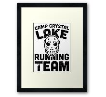Camp Crystal Lake Running Team Framed Print