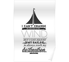 Sails Typographic Quote Poster
