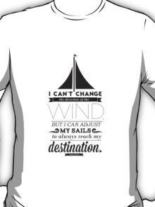 Sails Typographic Quote T-Shirt
