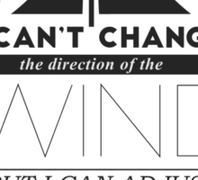 Sails Typographic Quote Sticker