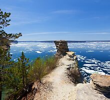 Miners Castle Overlook and Ice Floes by Craig Sterken