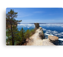 Miners Castle Overlook and Ice Floes Canvas Print