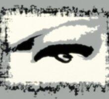 Distorted vision shades of grey Sticker