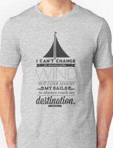 Sails Typographic T-Shirt Unisex T-Shirt