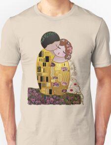 Kokeshi The kiss of Klimt Unisex T-Shirt