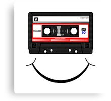 Cassette Smile Canvas Print