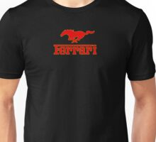 Ferrari Mustang Parody - Red / Yellow Unisex T-Shirt