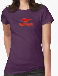 Ferrari Mustang Parody - Red / Yellow Womens Fitted T-Shirt