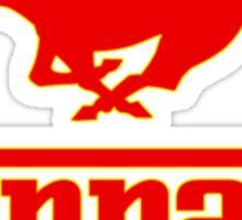 Ferrari Mustang Parody - Red / Yellow Sticker