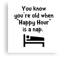 Happy Hour Nap Canvas Print