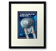 Star Trek - To Boldly Go Framed Print