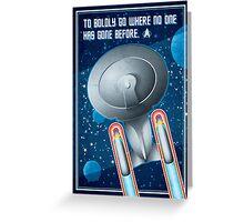 Star Trek - To Boldly Go Greeting Card