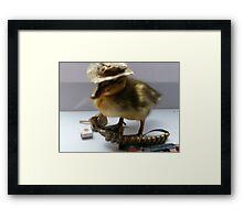 hard as f======k duckling Framed Print