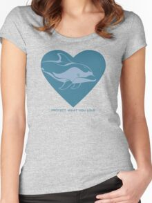 Love Pacific White-Sided Dolphin Women's Fitted Scoop T-Shirt