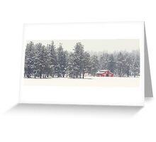Flagstaff, Az - Red Barn Greeting Card