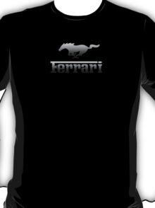 Ferrari Mustang Parody - Black Chrome T-Shirt