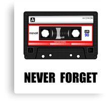 Never Forget Cassette Canvas Print