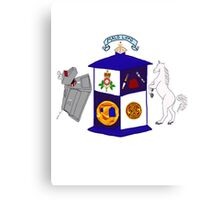 The Doctor's Coat Of Arms : Inspired by the 50th anniversary special Canvas Print