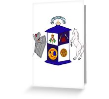 The Doctor's Coat Of Arms : Inspired by the 50th anniversary special Greeting Card