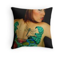 Colourful self Portrait Throw Pillow