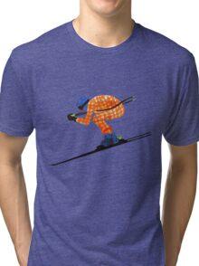 Alpine Skier Tri-blend T-Shirt