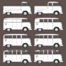 VW Type 2 Split Window Line Up by frenzix
