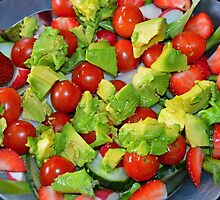 Green and Red Salad by henick