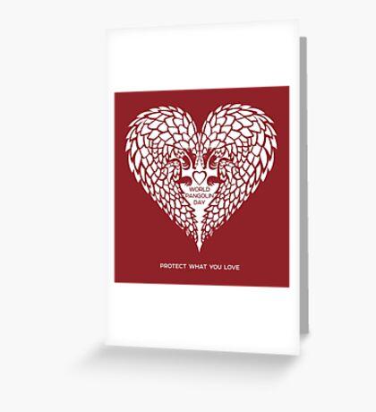 Love Pangolin - World Pangolin Day Greeting Card