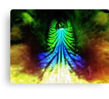 The Neon Ribcage. Canvas Print