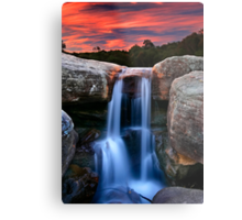 Sunset Cascade Metal Print