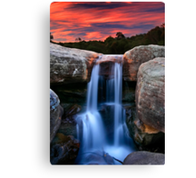 Sunset Cascade Canvas Print