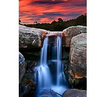 Sunset Cascade Photographic Print