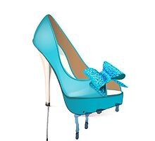 Rainy Day High Heel in Mint by Kteis