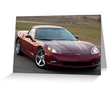 2008 Chevy Corvette Greeting Card